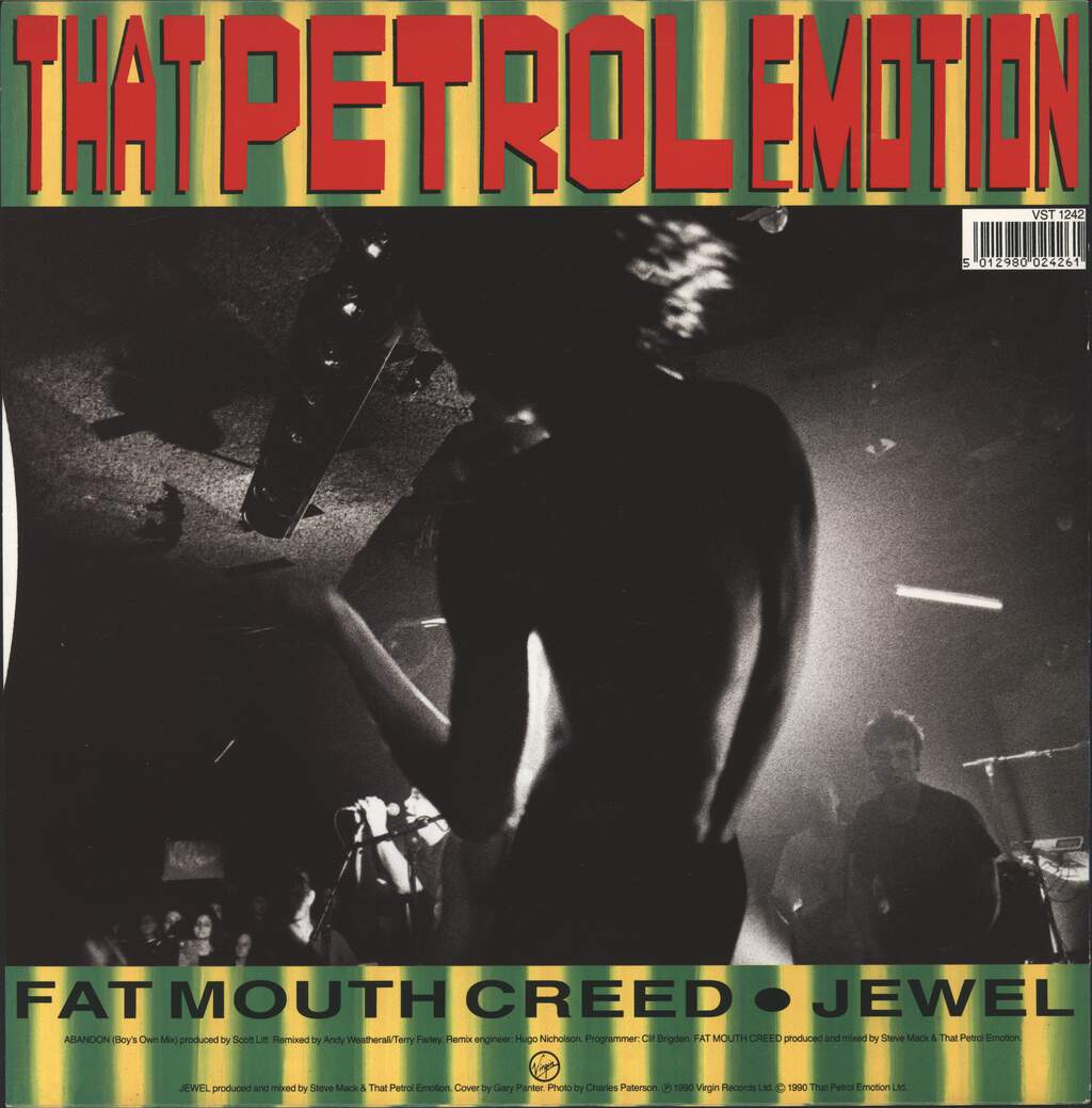 "That Petrol Emotion: Abandon (Boys Own Mix), 12"" Maxi Single (Vinyl)"