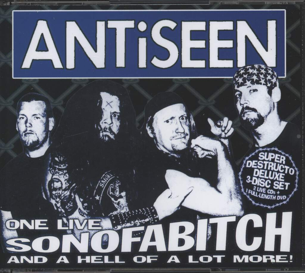 Antiseen: One Live Son Of A Bitch... And A Hell Of A Lot More!, CD