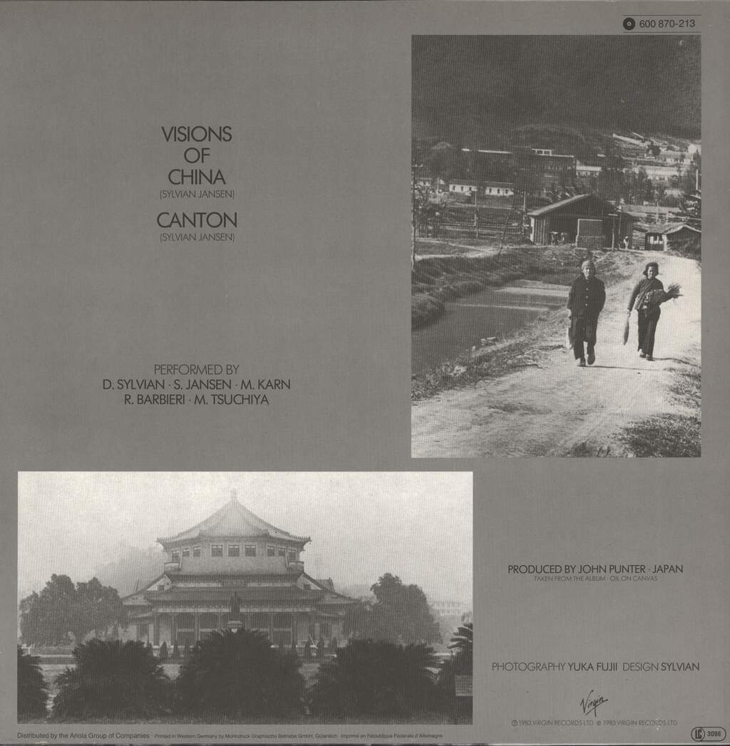 "Japan: Canton (Live) / Visions Of China (Live), 12"" Maxi Single (Vinyl)"