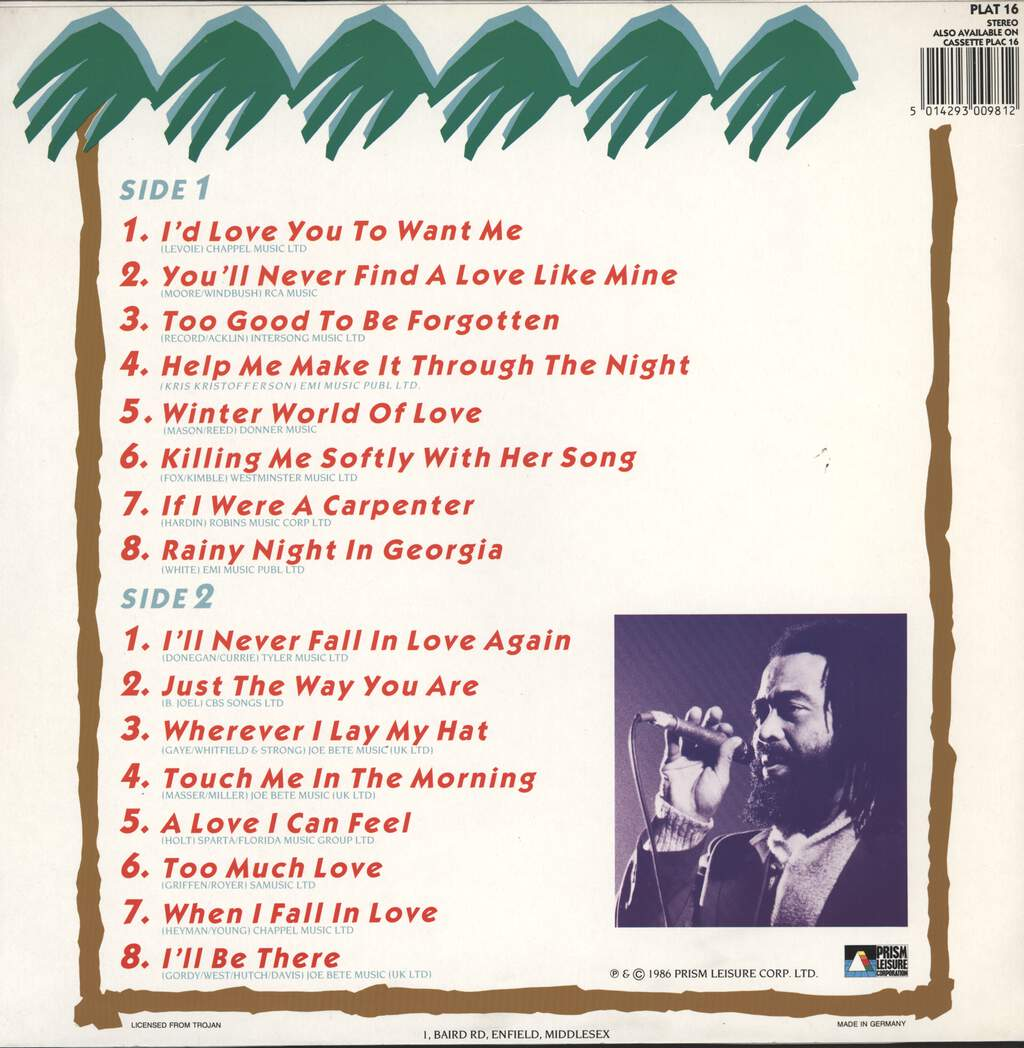 John Holt: 16 Songs For Soulful Lovers, LP (Vinyl)