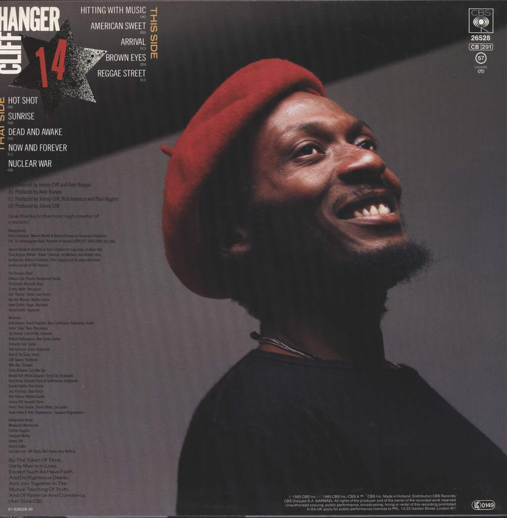 Jimmy Cliff: Cliff Hanger, LP (Vinyl)