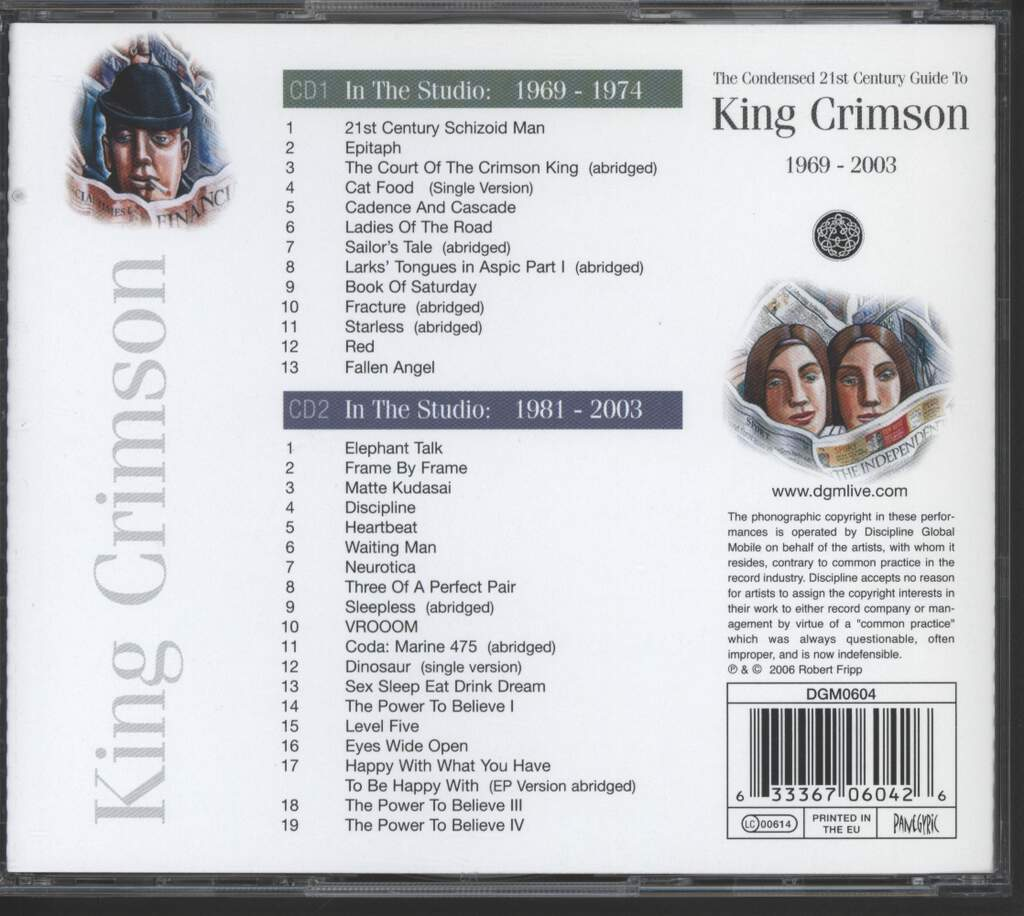 King Crimson: The Condensed 21st Century Guide To King Crimson 1969 - 2003, CD