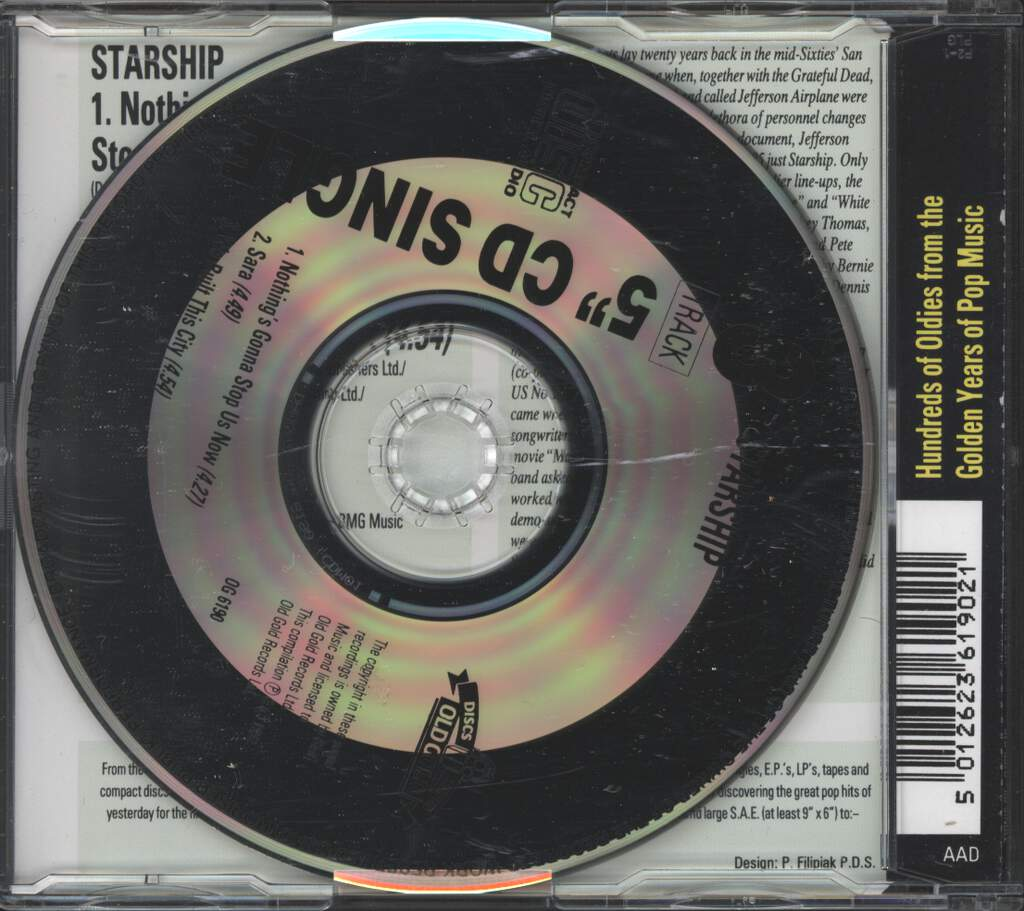 Starship: Nothing's Gonna Stop Us Now / Sara / We Built This City, Mini CD