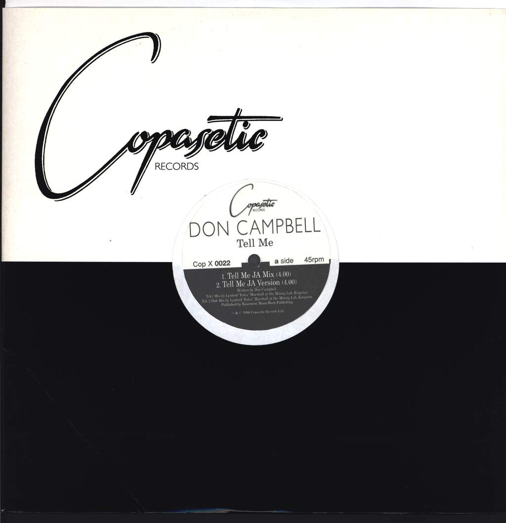 "Don Campbell: Tell Me, 12"" Maxi Single (Vinyl)"