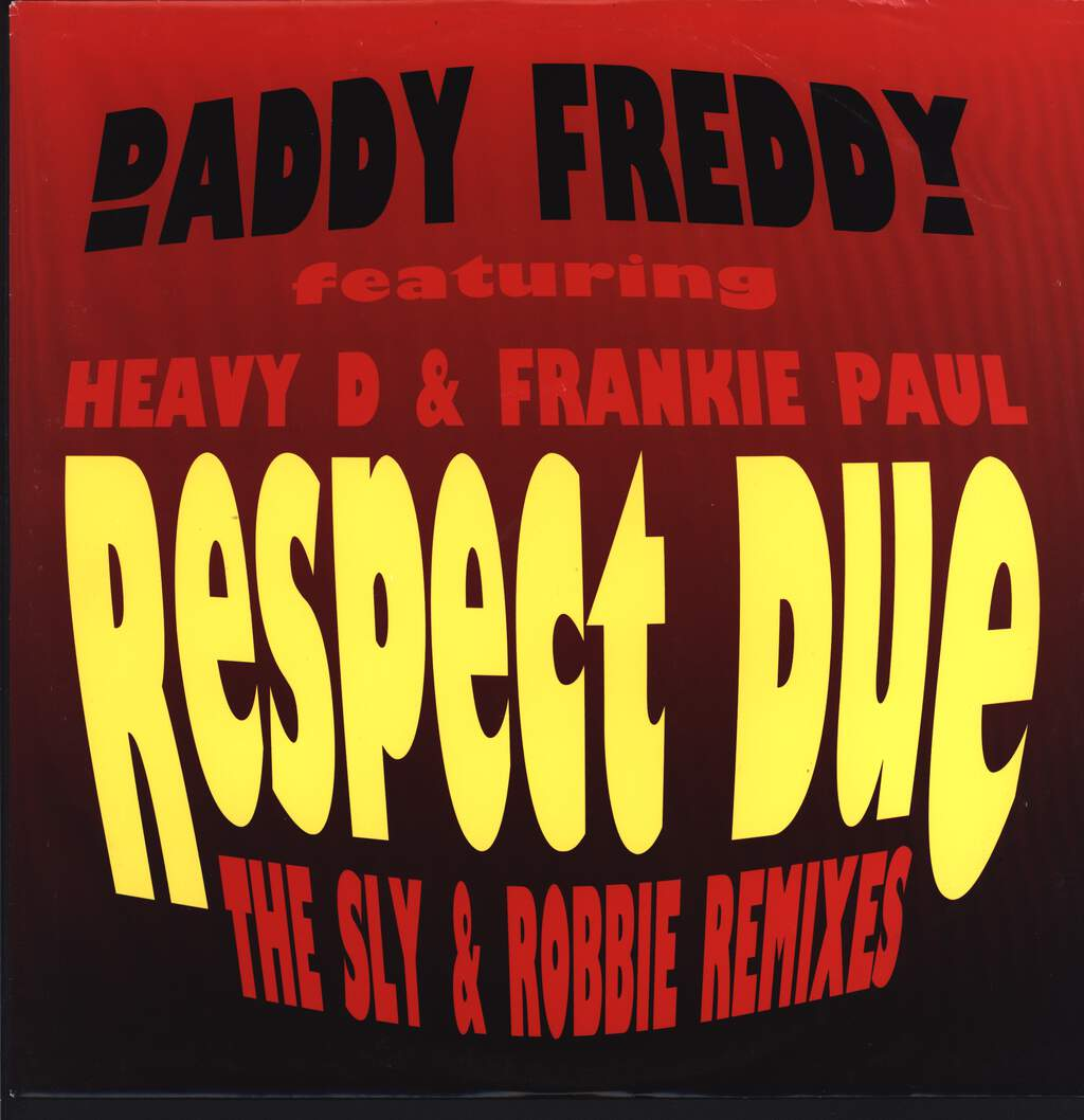 "Daddy Freddy: Respect Due (The Sly & Robbie Remixes), 12"" Maxi Single (Vinyl)"