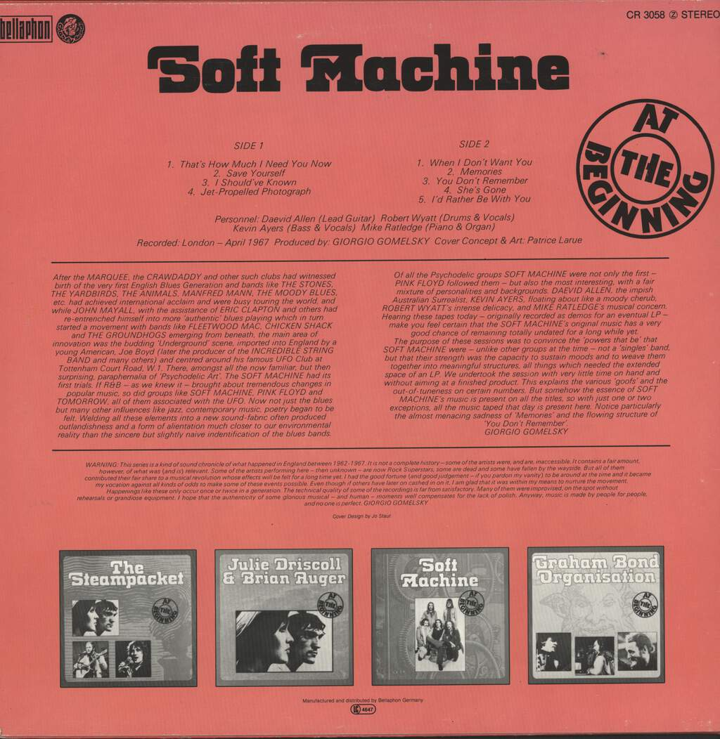 Soft Machine: At The Beginning, LP (Vinyl)