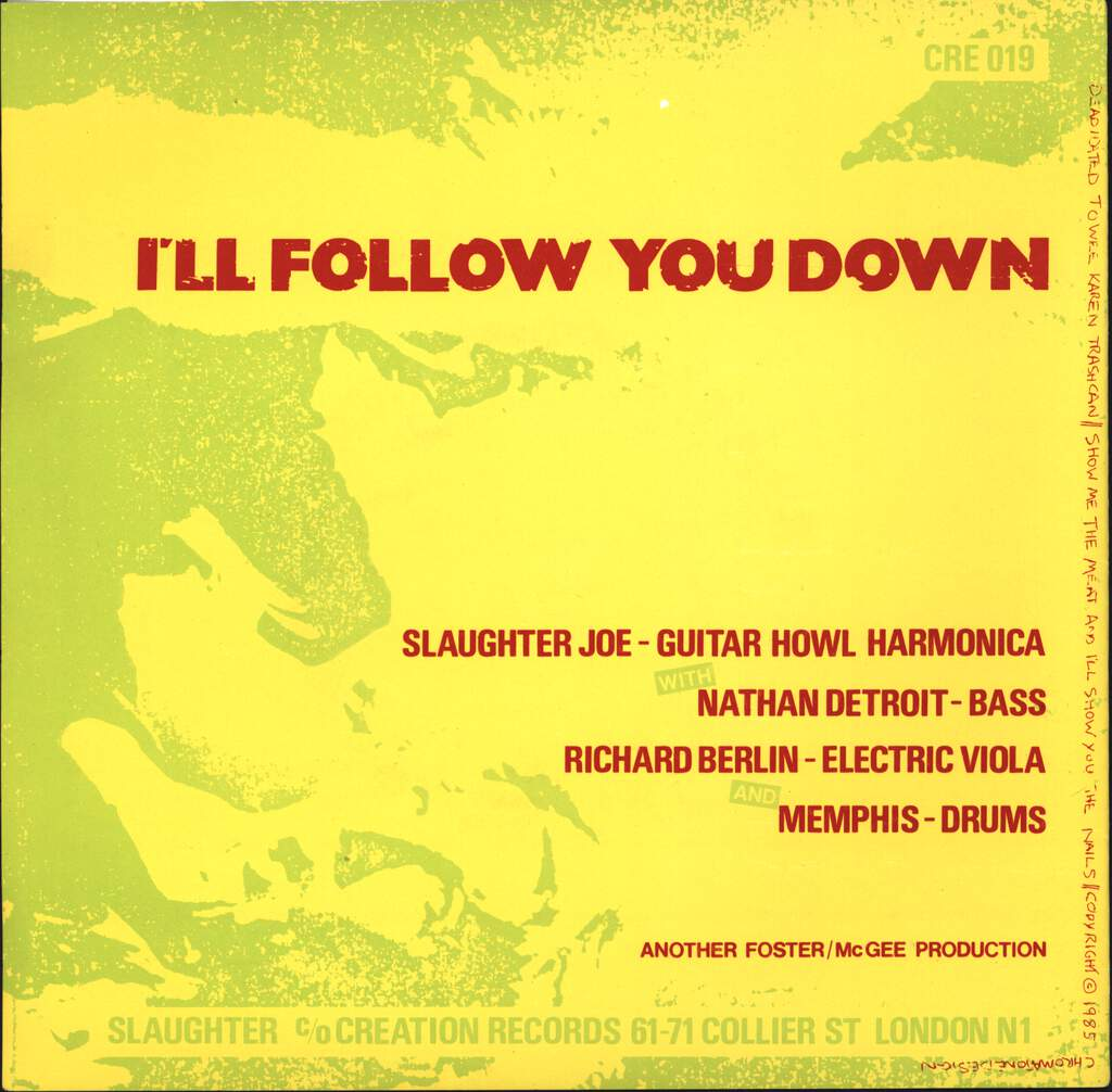 "Slaughter Joe: I'll Follow You Down, 7"" Single (Vinyl)"