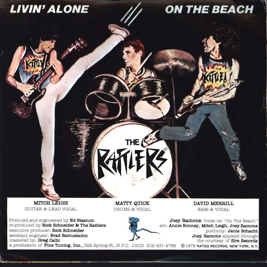 "Rattlers: On The Beach / Livin' Alone, 7"" Single (Vinyl)"