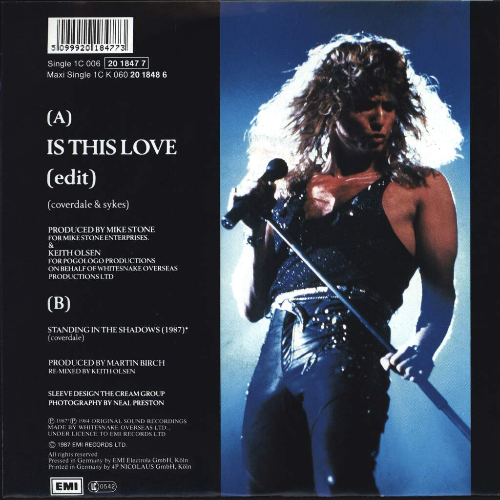 "Whitesnake: Is This Love, 7"" Single (Vinyl)"