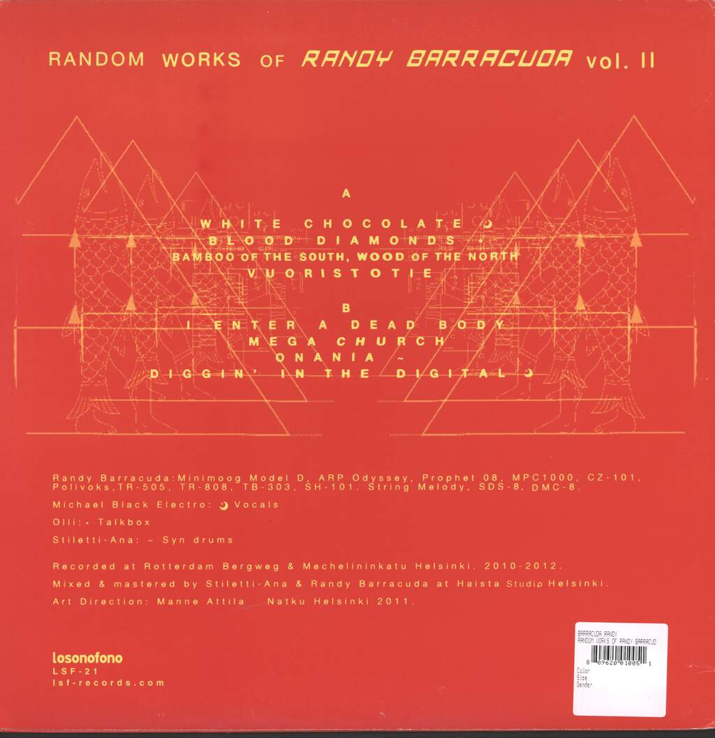 Randy Barracuda: Random Works Of Randy Barracuda Vol. II, LP (Vinyl)