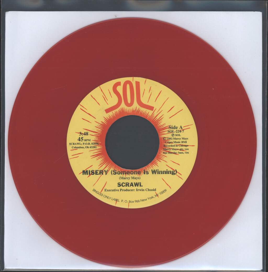 "Scrawl: Misery (Someone Is Winning) / Just Plain Bad, 7"" Single (Vinyl)"