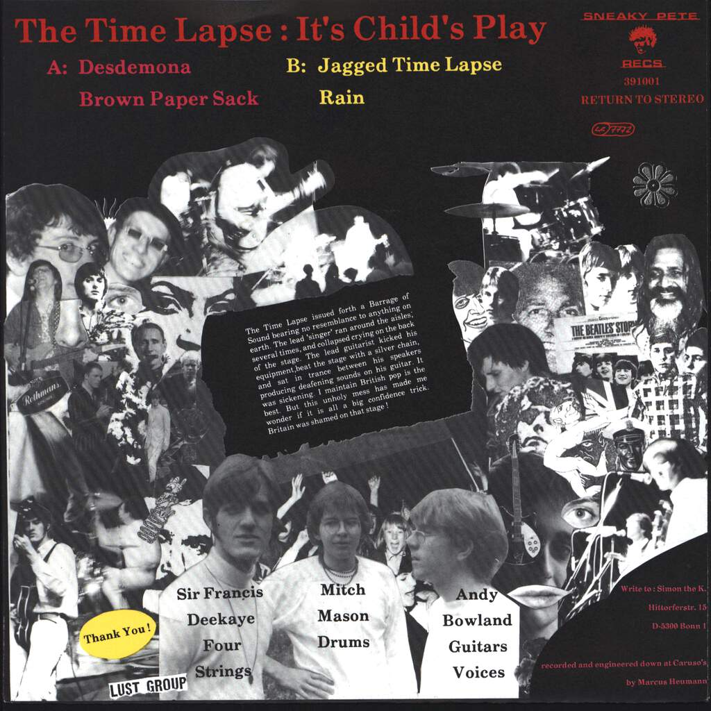 "Timelapse: It's Child's Play, 7"" Single (Vinyl)"