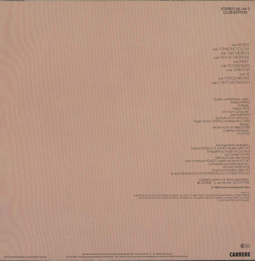 F.R. David: Words, LP (Vinyl)