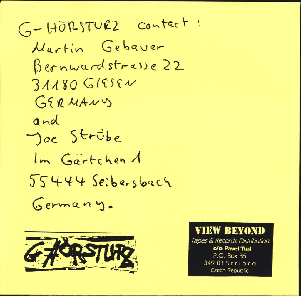 "G-Hörsturz: The Powerlessness...Makes Us Furious!, 7"" Single (Vinyl)"