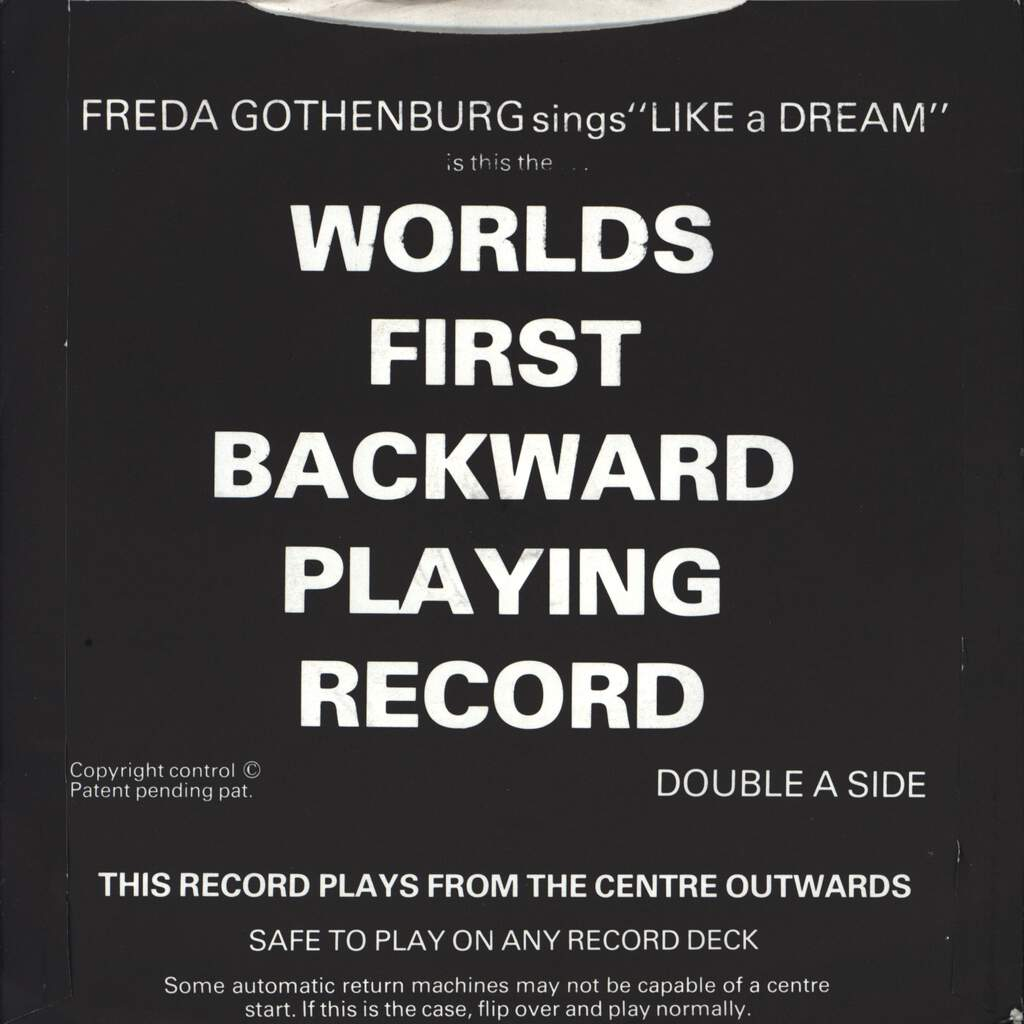 "Freda Gothenburg: Like A Dream, 7"" Single (Vinyl)"