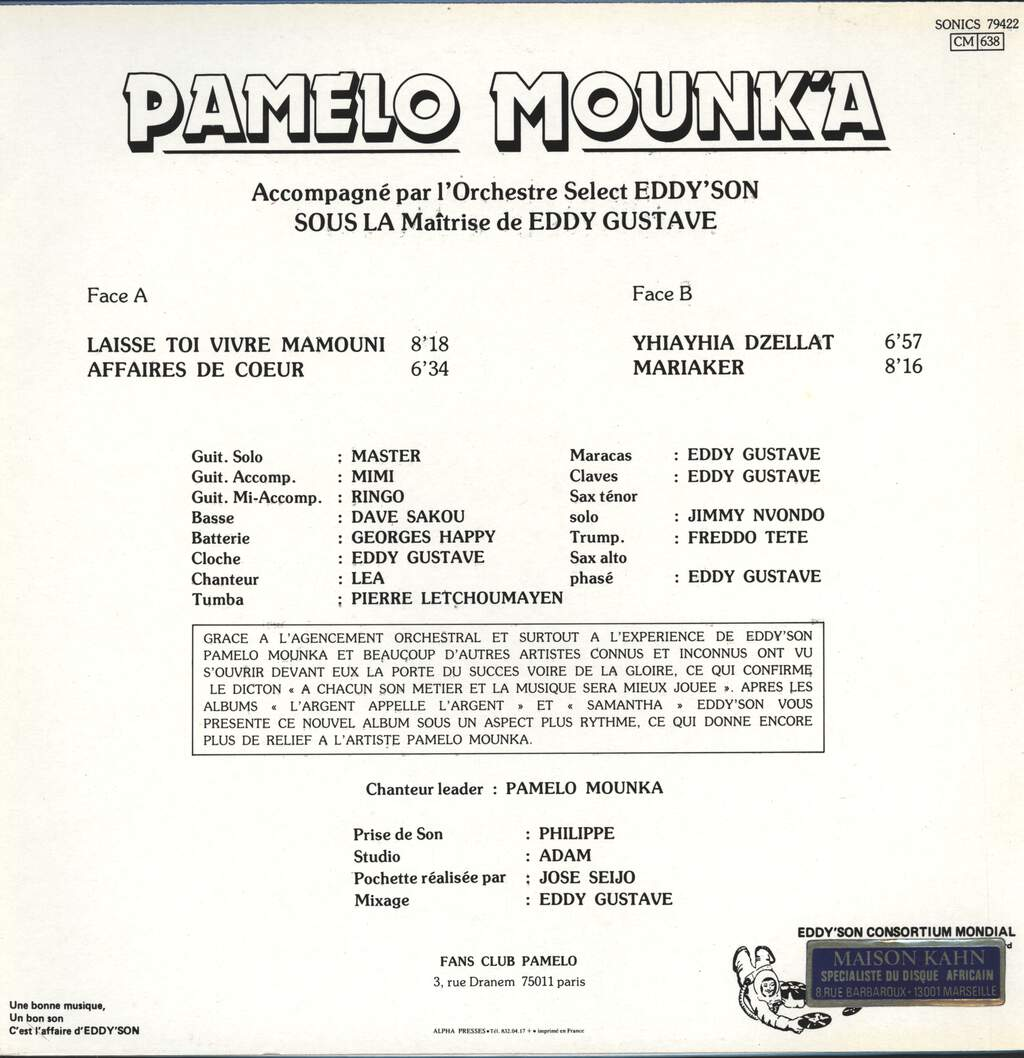 Pamelo Mounk'a: Propulsion!, LP (Vinyl)