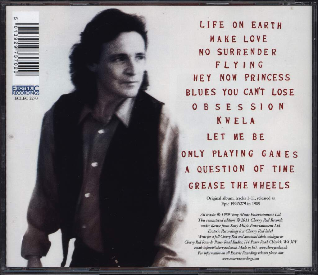 Jack Bruce: A Question Of Time, CD