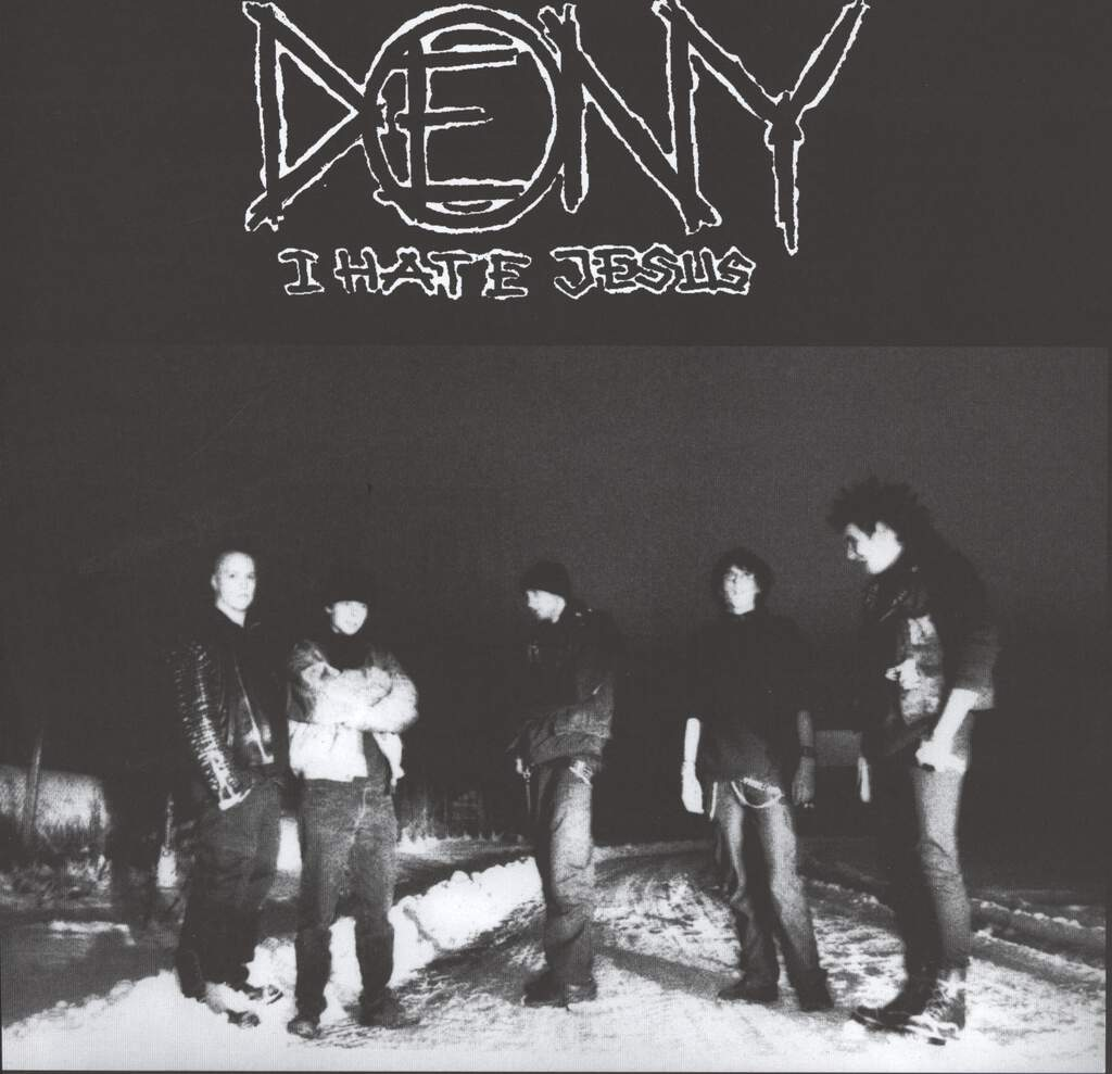 "Deny: I Hate Jesus / Untitled, 10"" Vinyl EP"