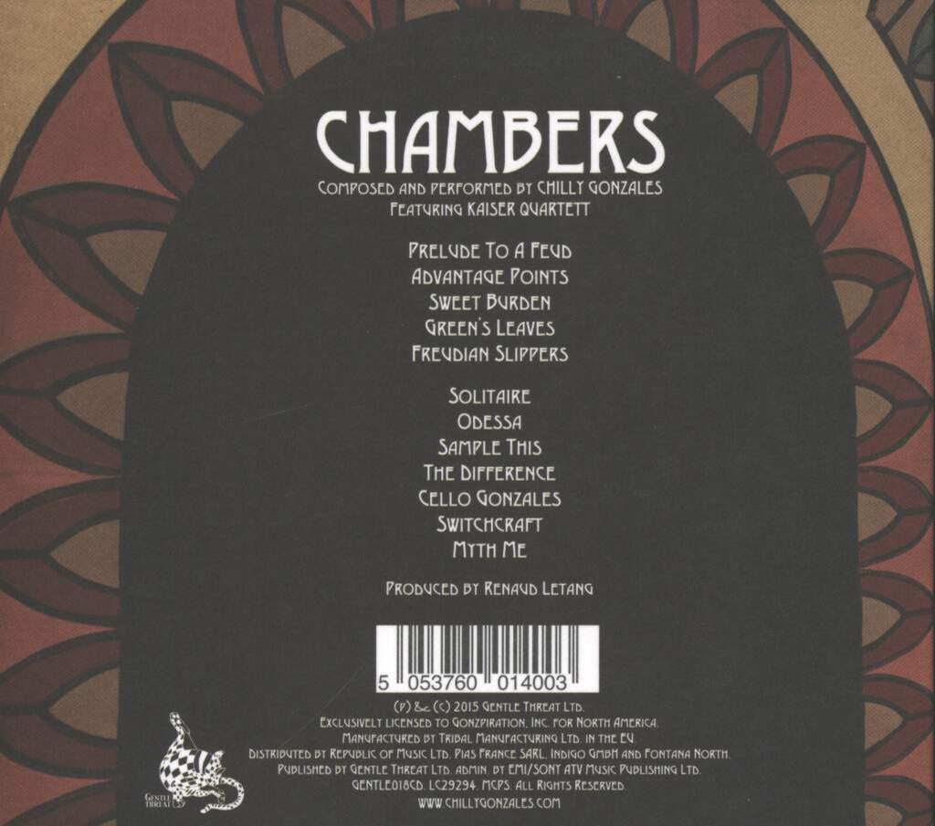 Gonzales: Chambers, CD