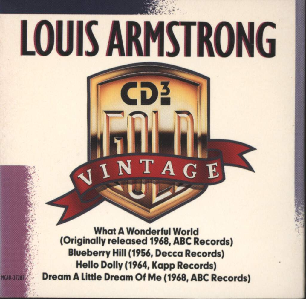 "Louis Armstrong: Vintage Gold, 3"" CD"