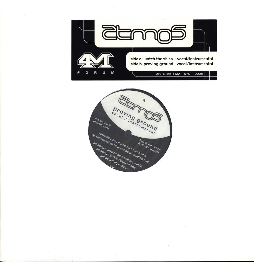 "Atmos: Watch The Skies / Proving Ground, 12"" Maxi Single (Vinyl)"