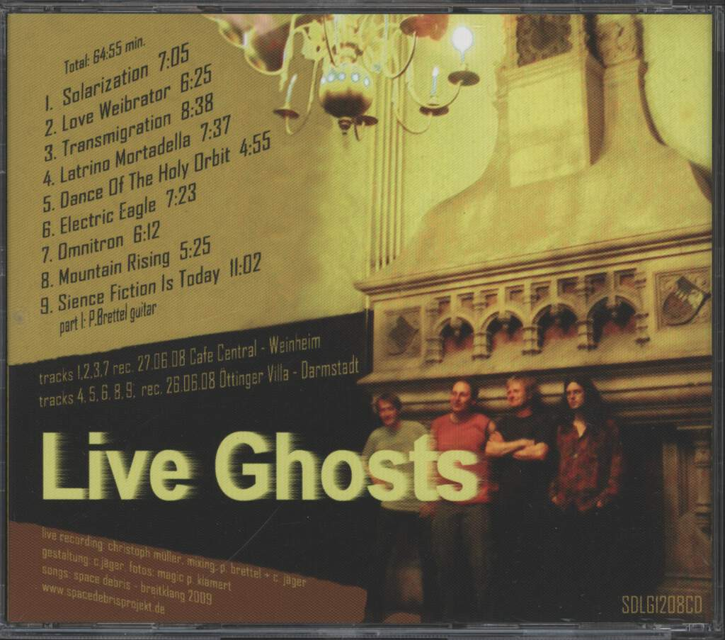Space Debris: Live Ghosts, CD