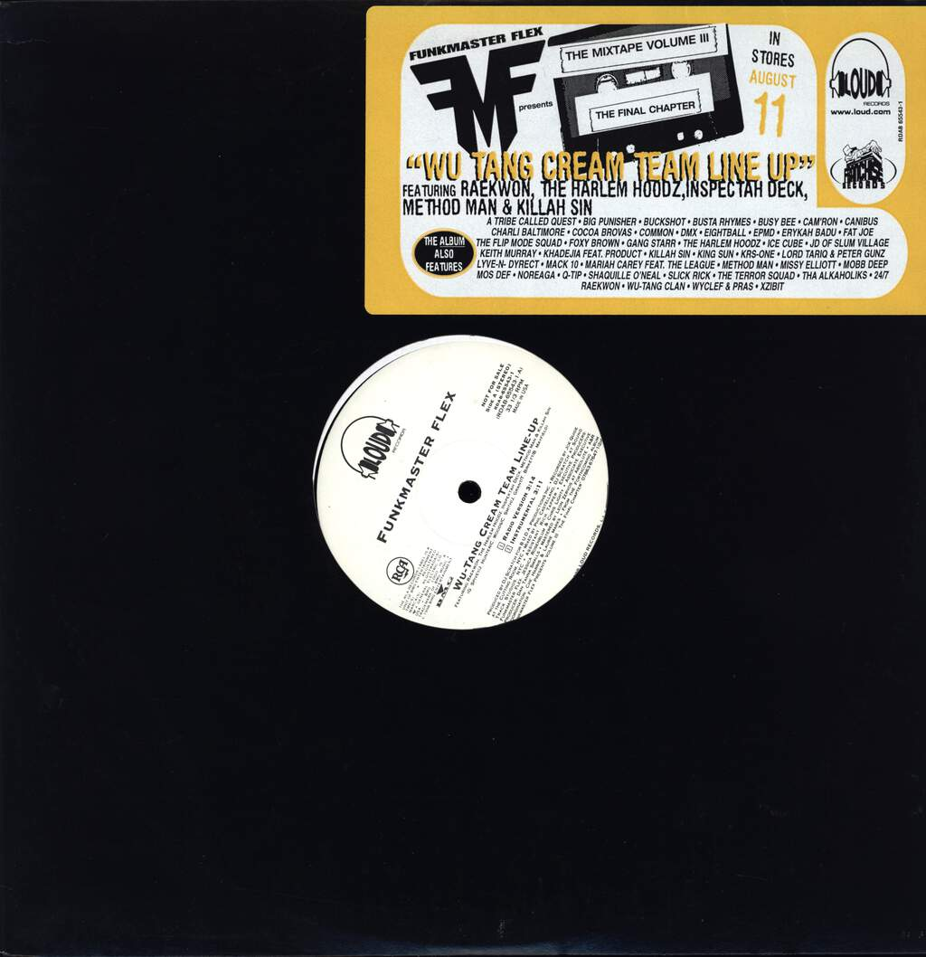 "Funkmaster Flex: Wu-Tang Cream Team Line Up, 12"" Maxi Single (Vinyl)"