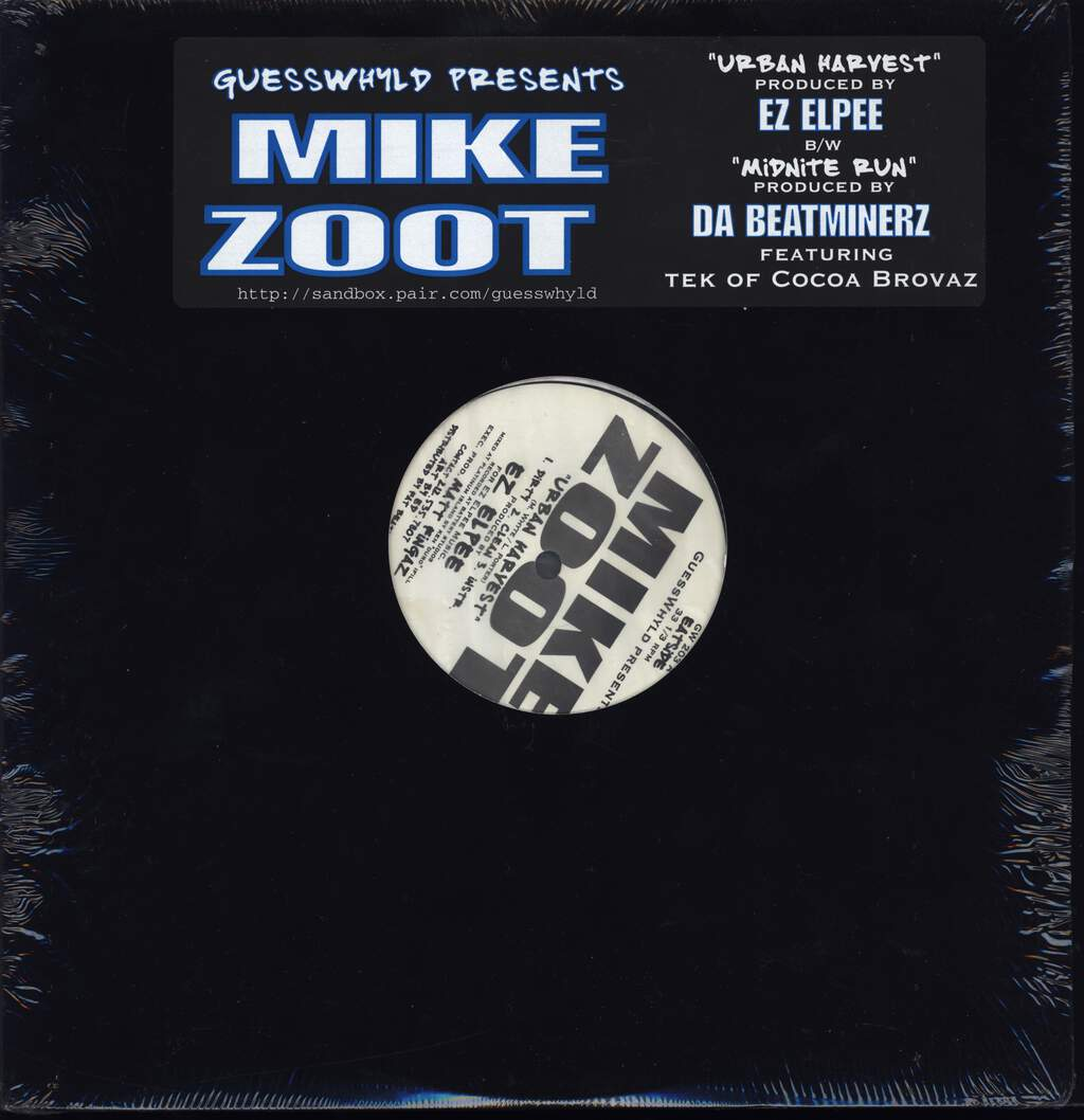 "Mike Zoot: Urban Harvest / Midnite Run, 12"" Maxi Single (Vinyl)"