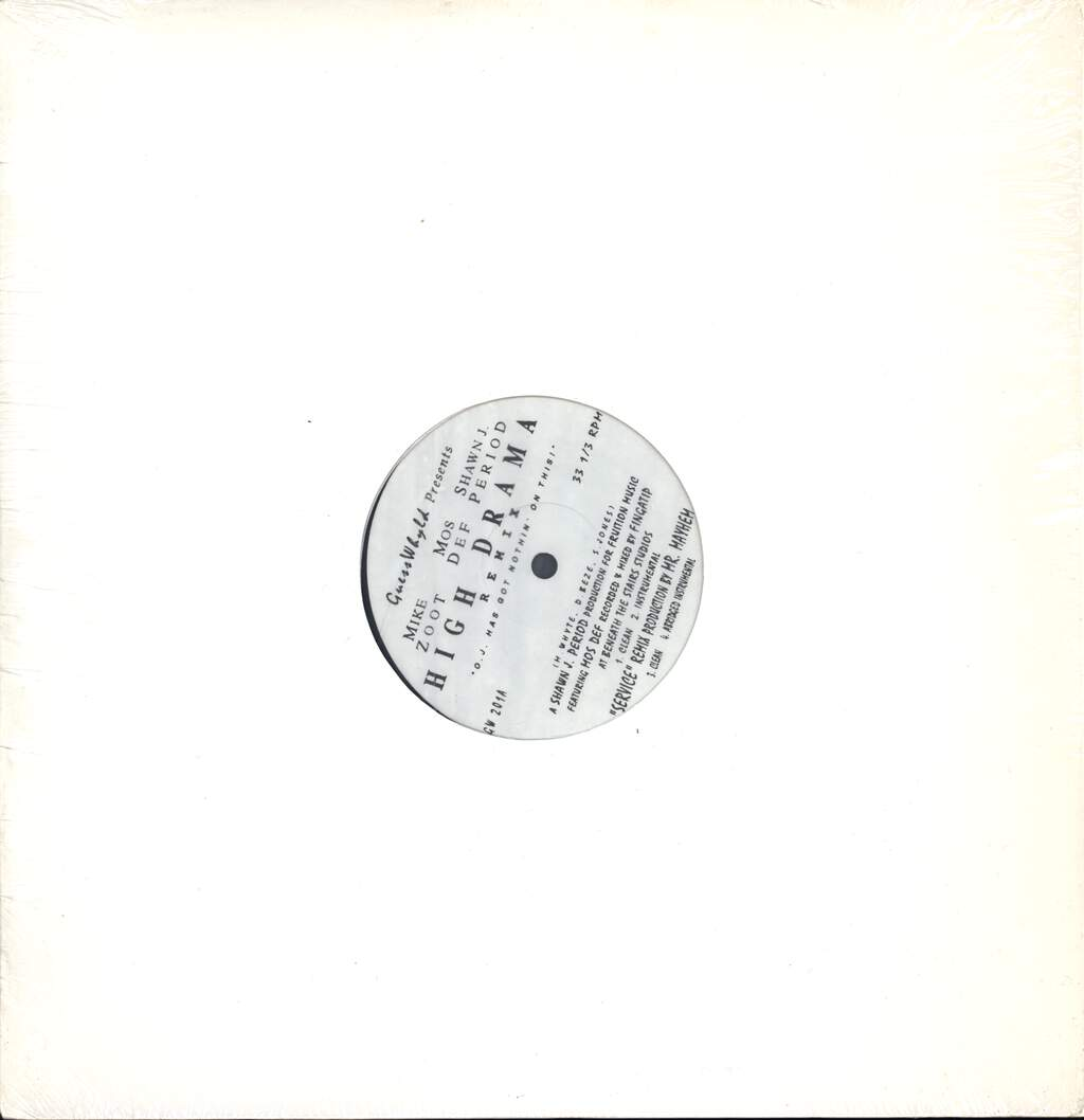 "Mike Zoot: High Drama (Remix), 12"" Maxi Single (Vinyl)"