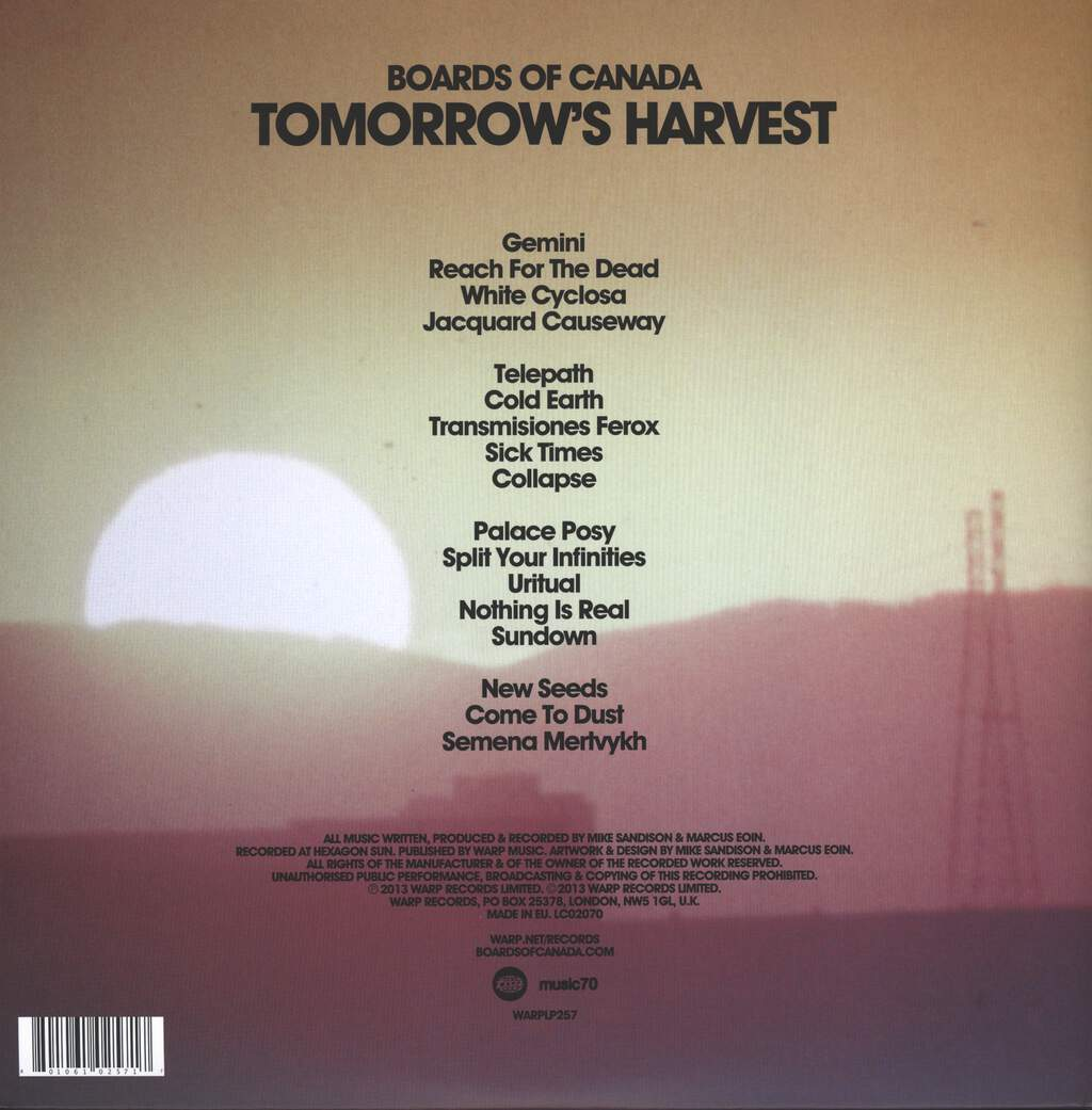 Boards Of Canada: Tomorrow's Harvest, 2×LP (Vinyl)