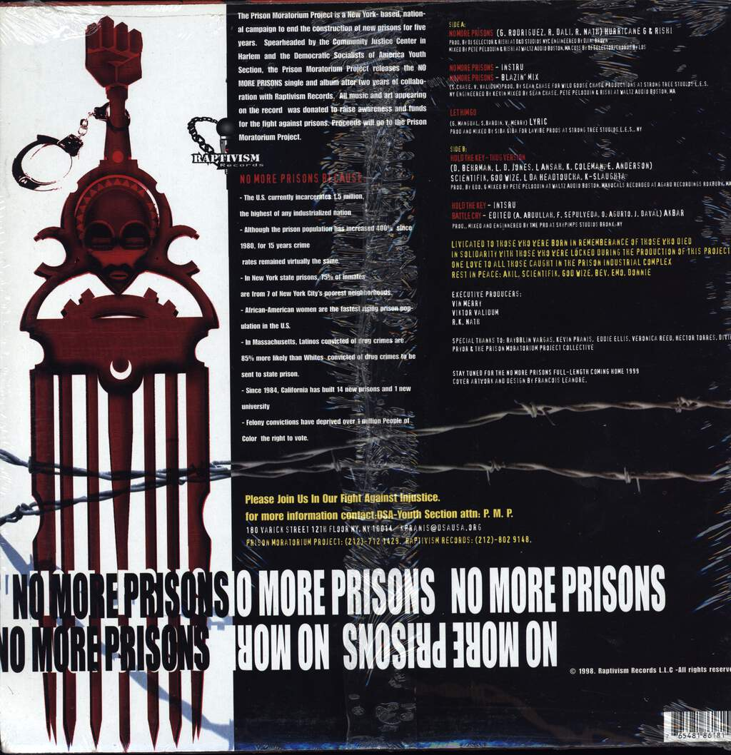 "Various: No More Prisons, 12"" Maxi Single (Vinyl)"
