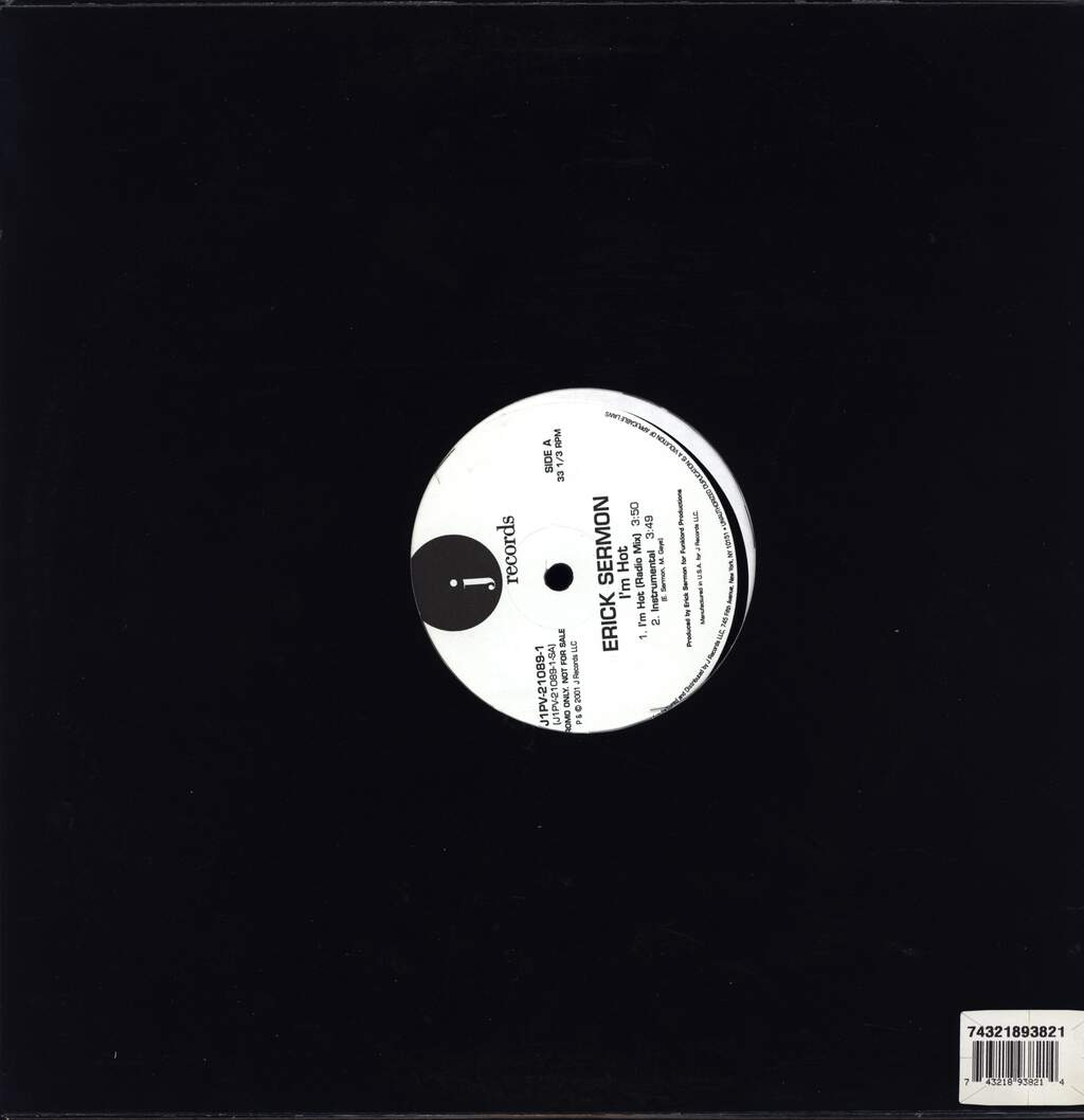 "Erick Sermon: I'm Hot, 12"" Maxi Single (Vinyl)"