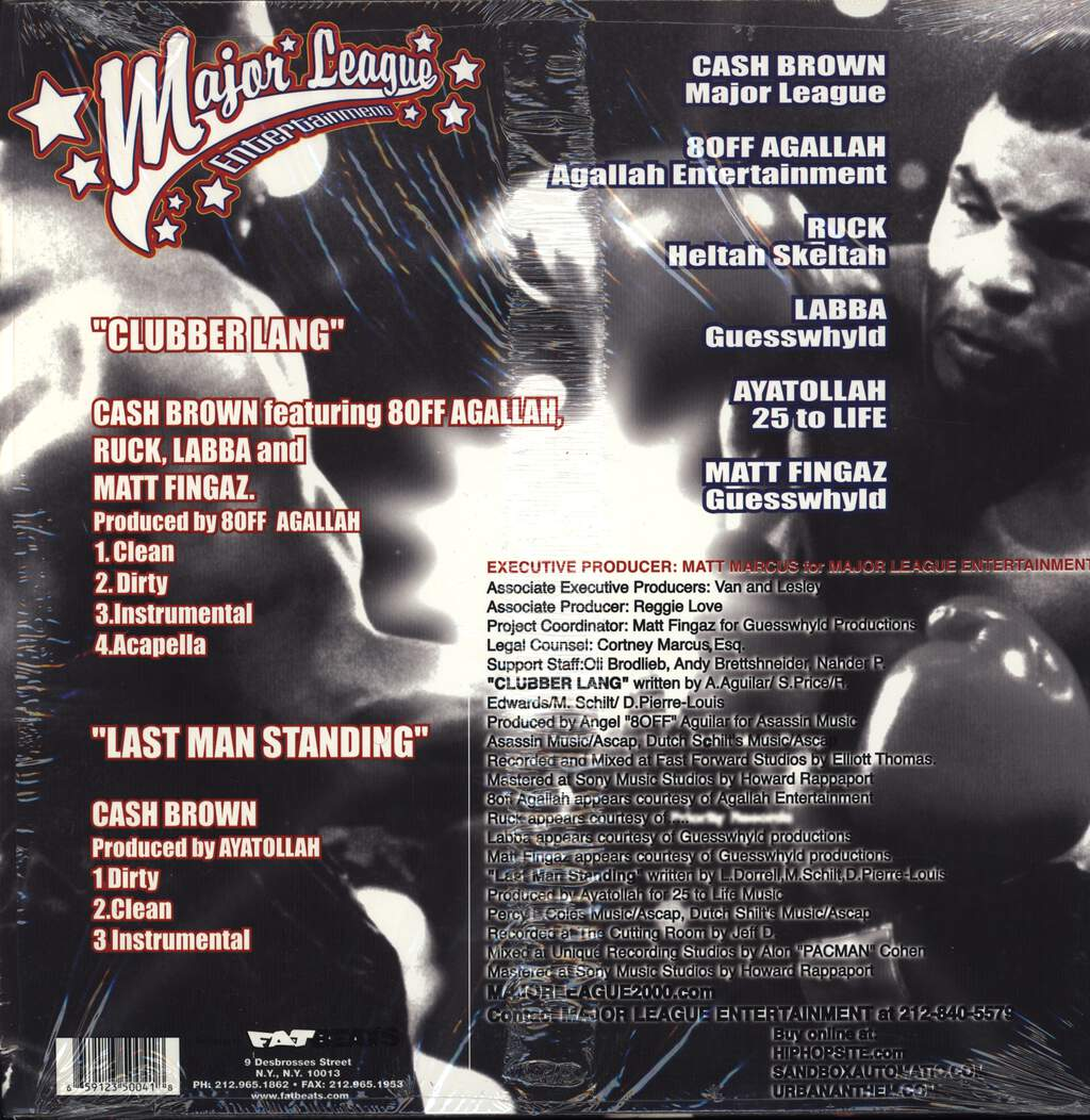 "Cash Brown: Clubber Lang, 12"" Maxi Single (Vinyl)"