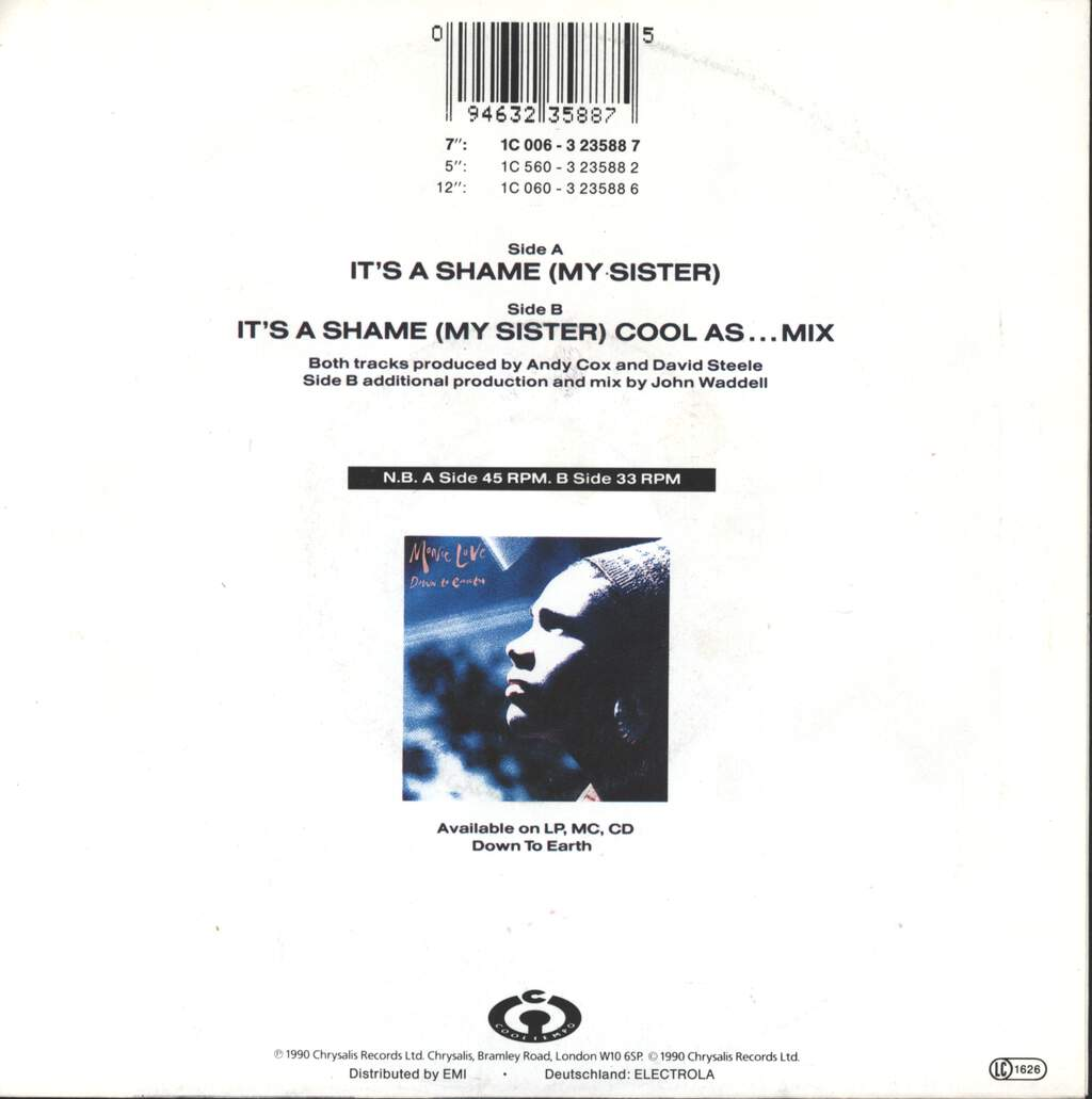 "Monie Love: It's A Shame (My Sister), 7"" Single (Vinyl)"