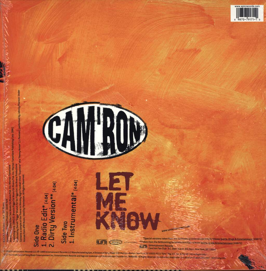 "Cam'ron: Let Me Know, 12"" Maxi Single (Vinyl)"