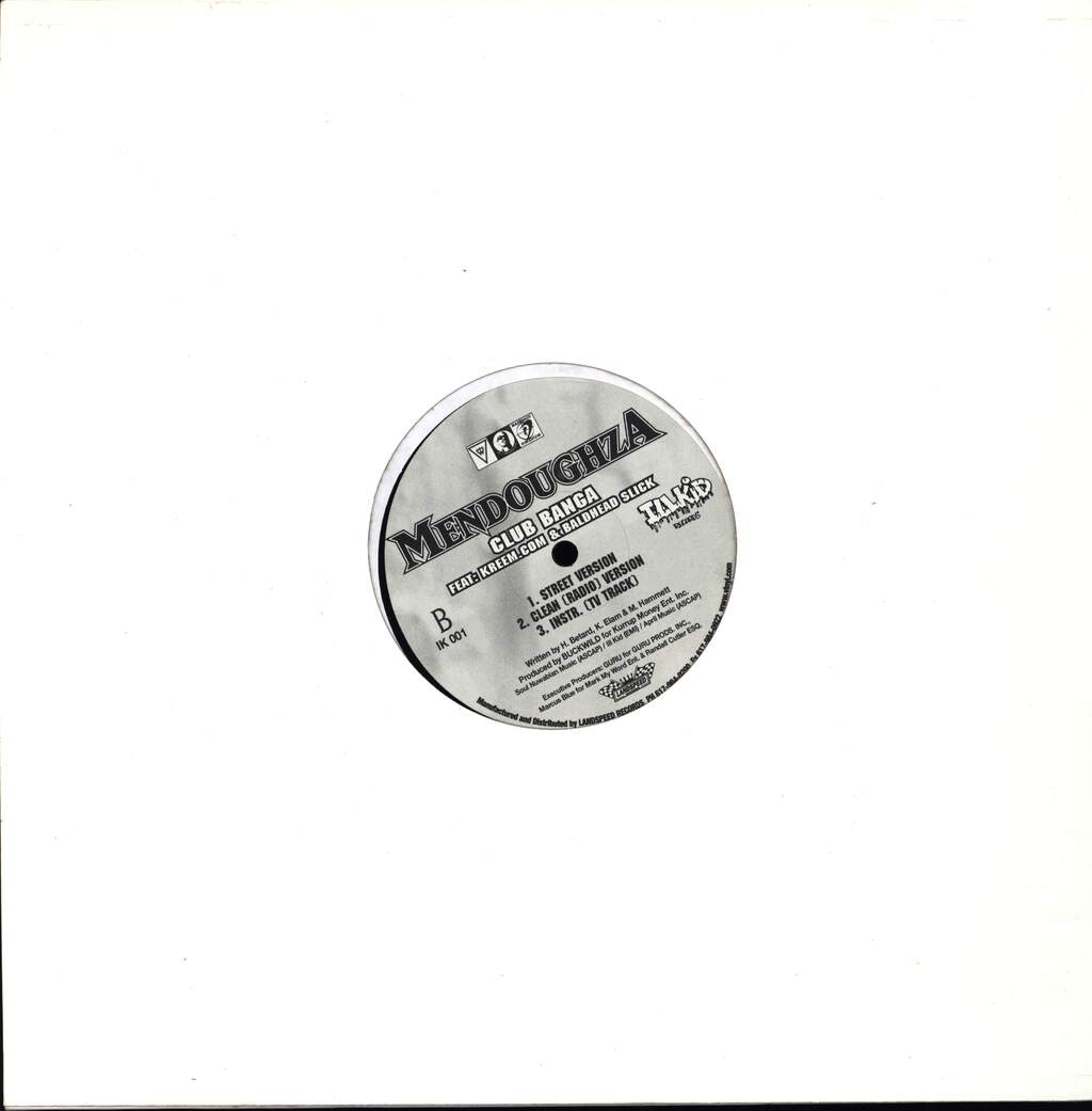 "Mendoughza: Bring It 2 Da Front / Club Banga, 12"" Maxi Single (Vinyl)"