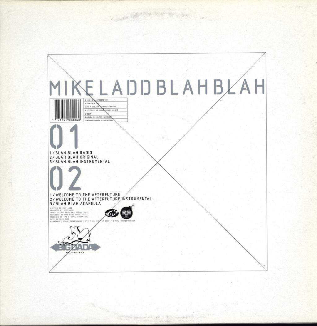 "Mike Ladd: Blah Blah, 12"" Maxi Single (Vinyl)"