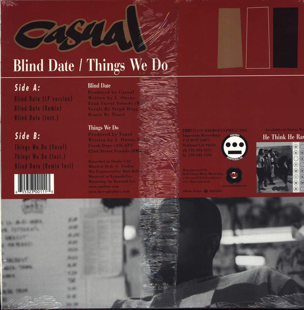 "Casual: Blind Date / Things We Do, 12"" Maxi Single (Vinyl)"