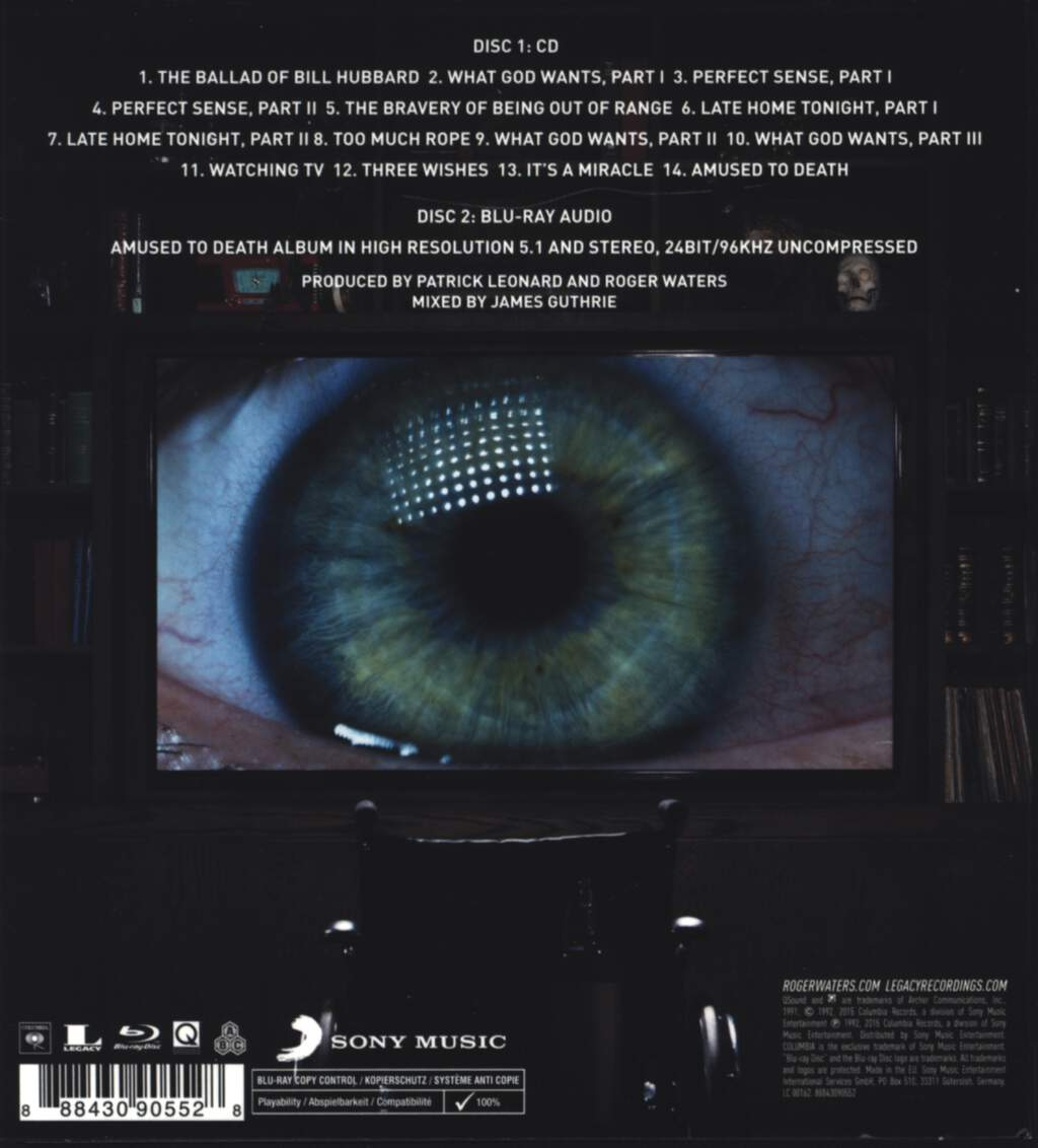 Roger Waters: Amused To Death, Blu-ray Disc