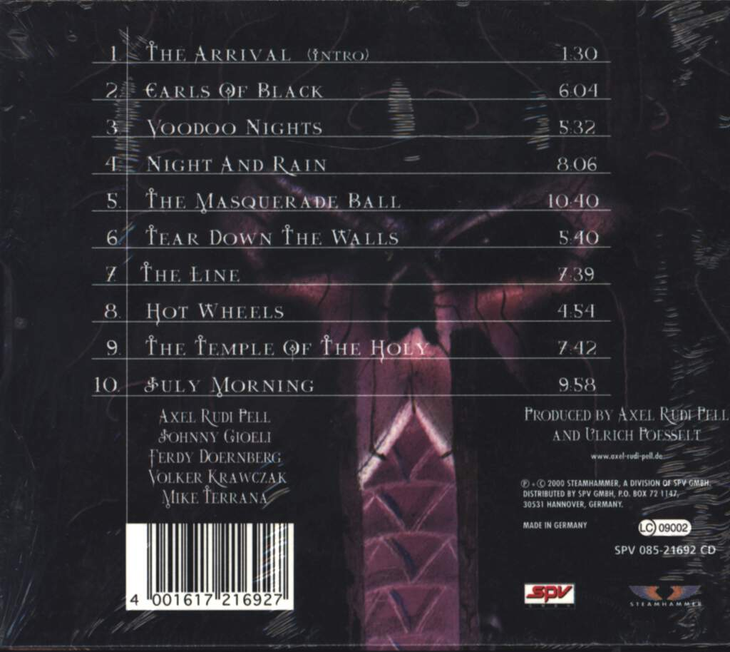 Axel Rudi Pell: The Masquerade Ball, CD