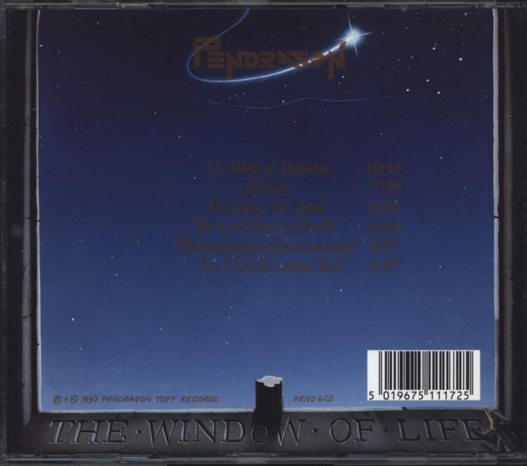 Pendragon: The Window Of Life, CD