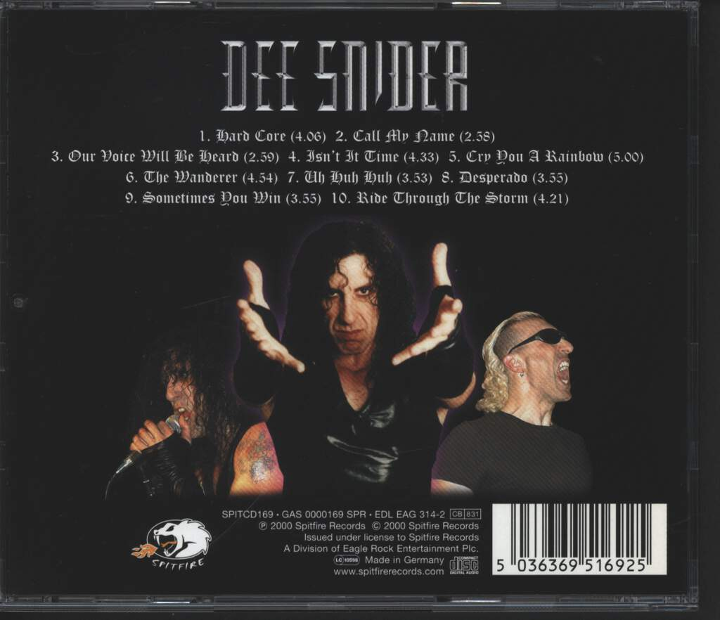 Dee Snider: Never Let The Bastards Wear You Down, CD
