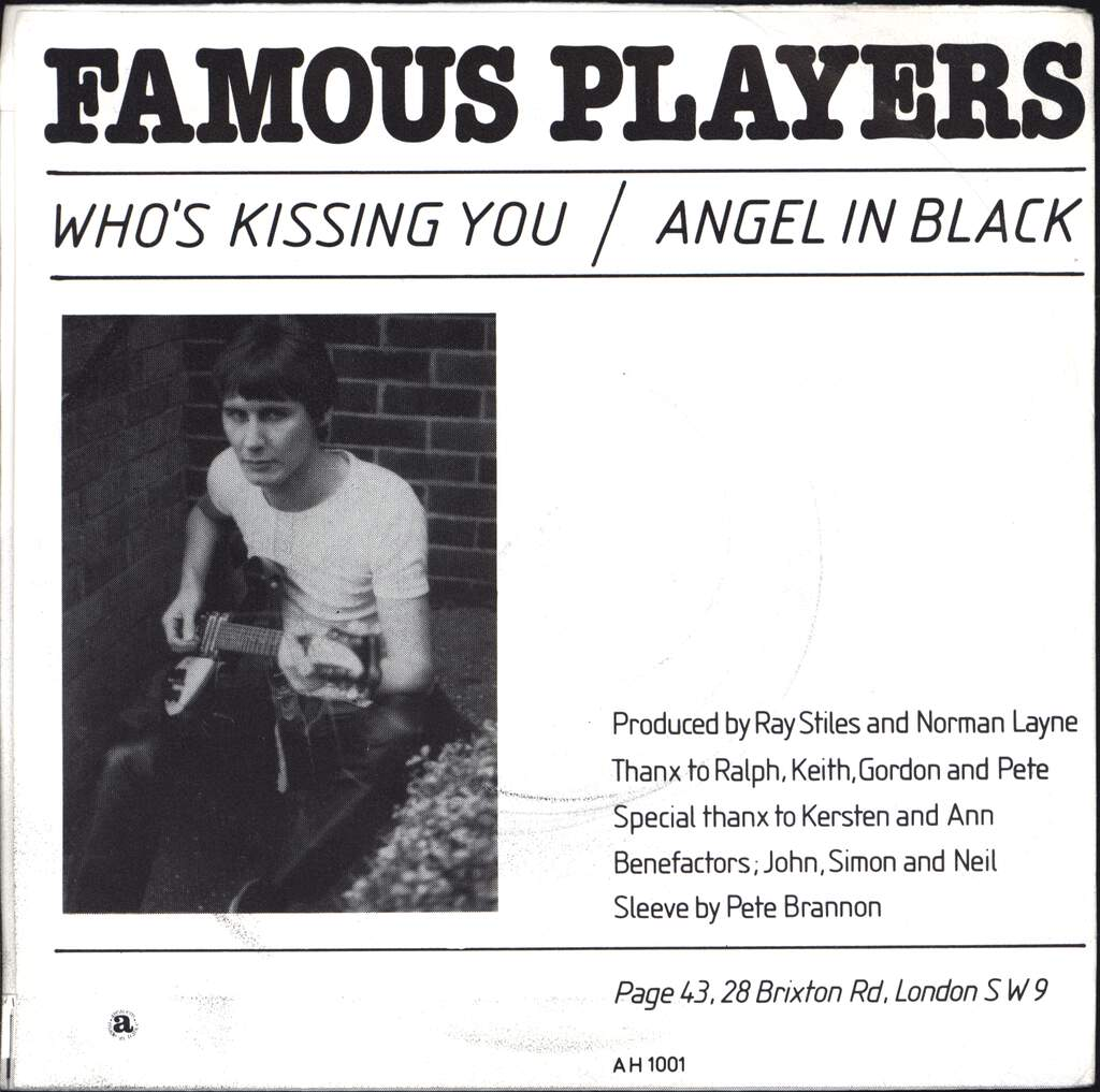 "Famous Players: Who's Kissing You / Angel In Black, 7"" Single (Vinyl)"