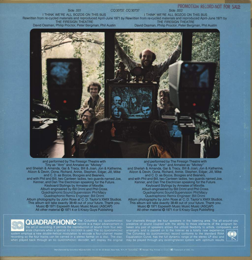 Firesign Theatre: I Think We're All Bozos On This Bus, LP (Vinyl)