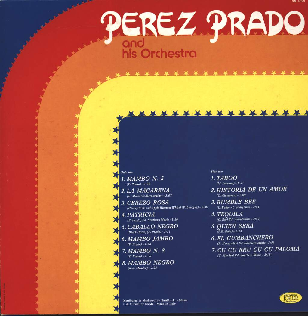 Perez Prado And His Orchestra: Perez Prado And His Orchestra, LP (Vinyl)