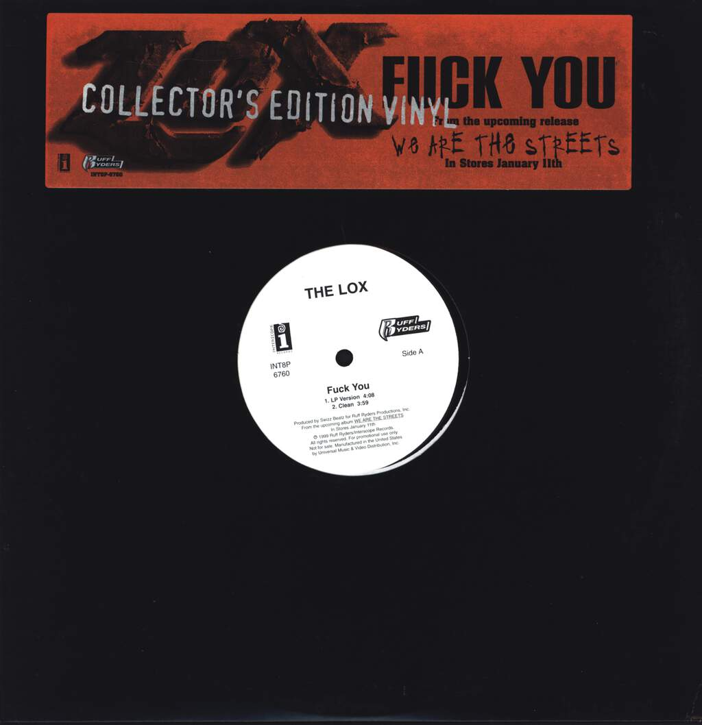 "The Lox: Fuck You, 12"" Maxi Single (Vinyl)"