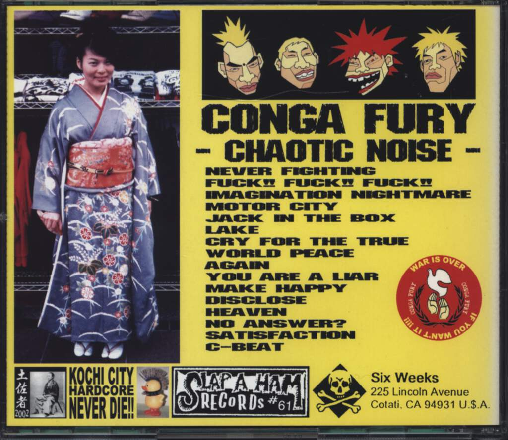 Conga Fury: Chaotic Noise, CD