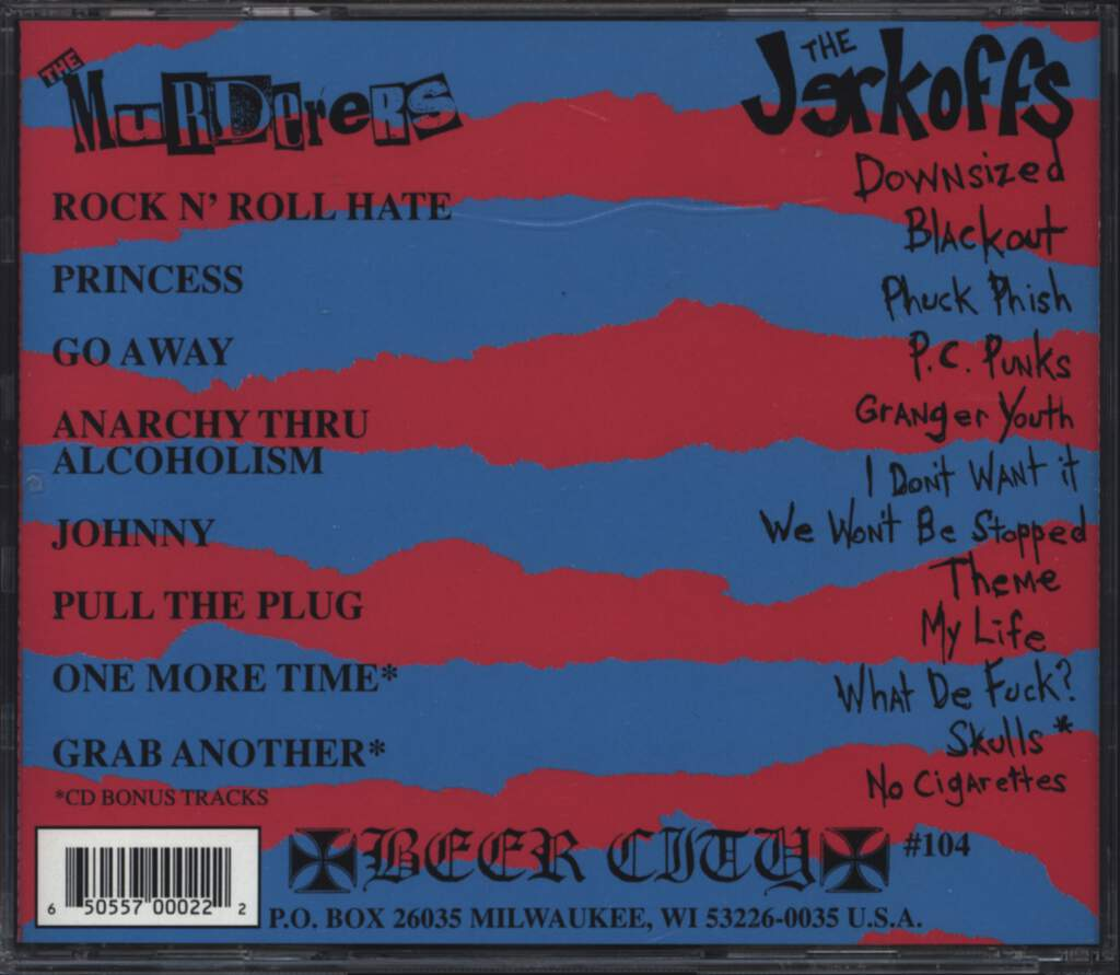 Murderers: The Murderers and The Jerkoffs Split CD, CD