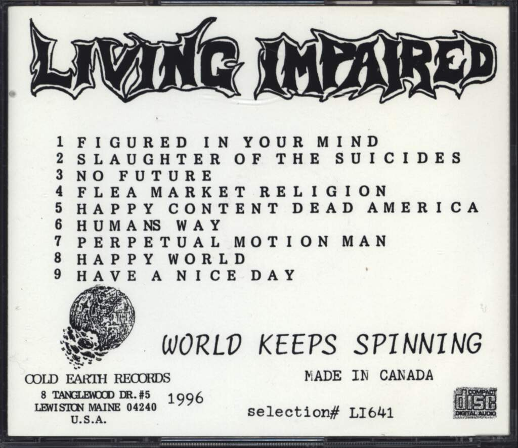 Living Impaired: World Keeps Spinning, CD