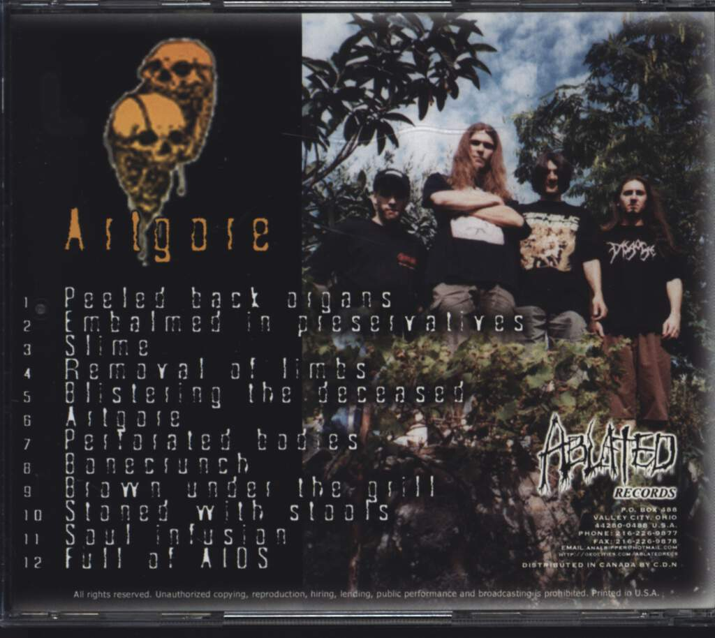 Morgue: Artgore, CD